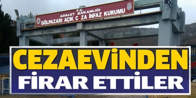 CEZAEVİNDEN FİRAR ETTİLER